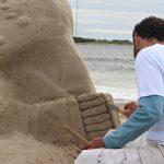 arte en la playa