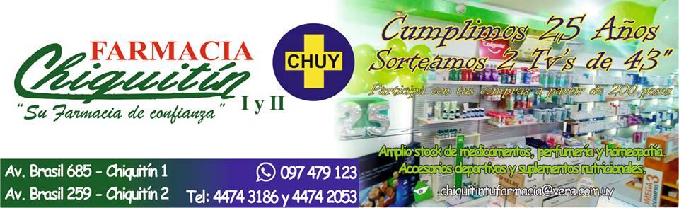 Farmacias de turno en Chuy