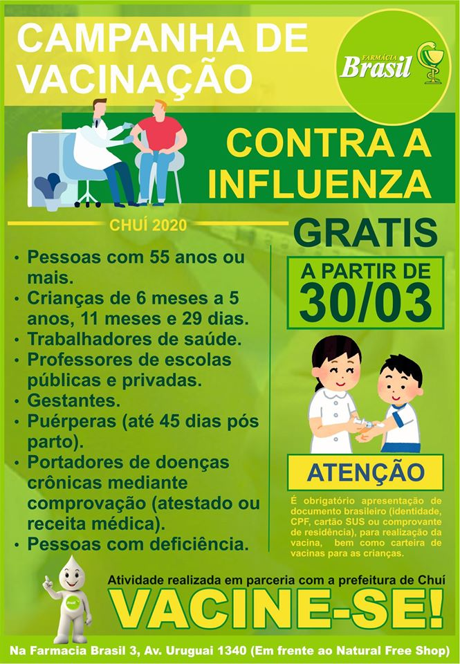 vacinas no Chuí