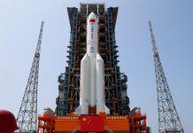 cohete chino fuera de control